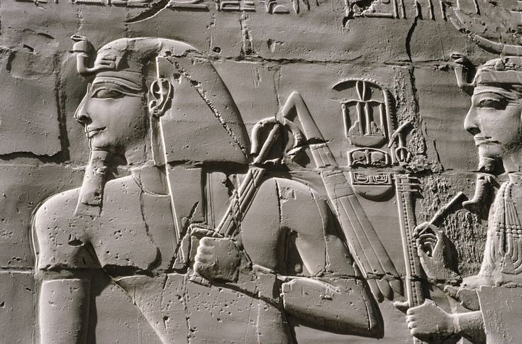 Egypte, Karnak, temple d'Amon-Rê, salle hypostyle, Séthi Ier