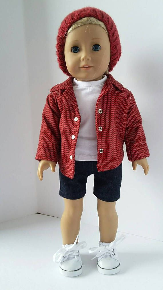 18 doll clothing  My Brothers Clothes flannel shirt