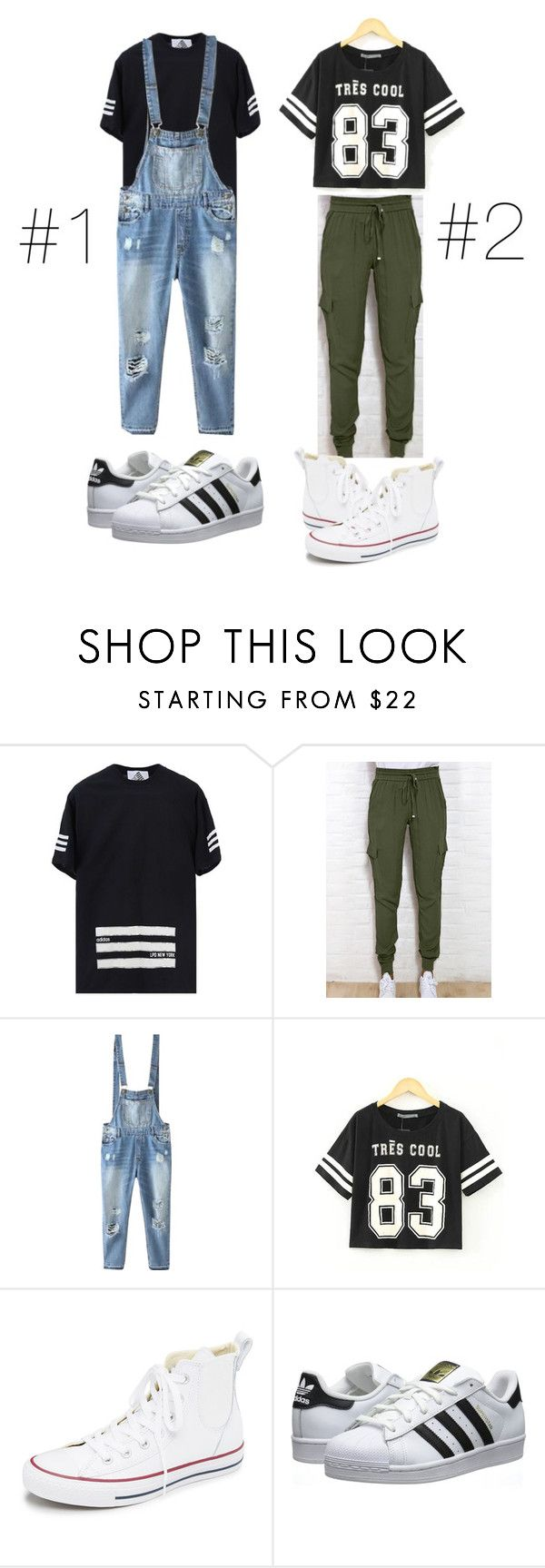 """Hip hop dancer outfits"" by kellymckee21 ❤ liked on Polyvore featuring adidas, RIFLE, Relaxfeel, Converse and adidas Originals"