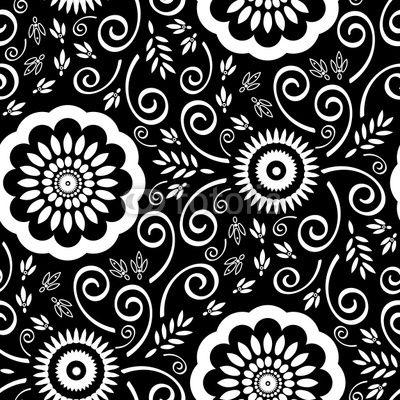 Paisley Patterns Black White Seamless C Il67