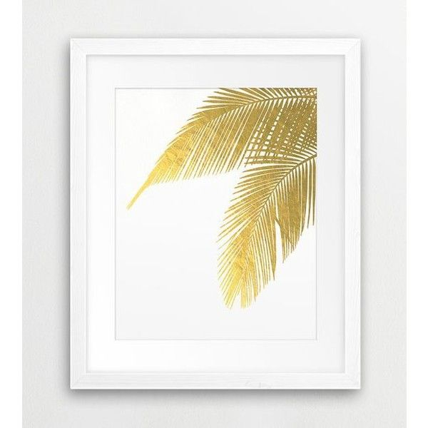 Palm Leaves, Palm Prints, Leaf Print, Gold Leaves, Tropical Leaves,... ❤ liked on Polyvore featuring home, home decor, wall art, gold home accessories, gold wall art, printable wall art, palm leaf wall art and leaves wall art