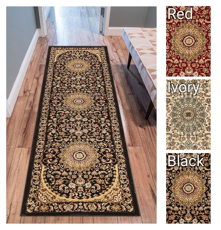 Formal Traditional Area Rug X Runner Easy Clean Stain Fade Resistant Shed Free Modern Classic Contemporary Thick Soft Plush Living Dining Room