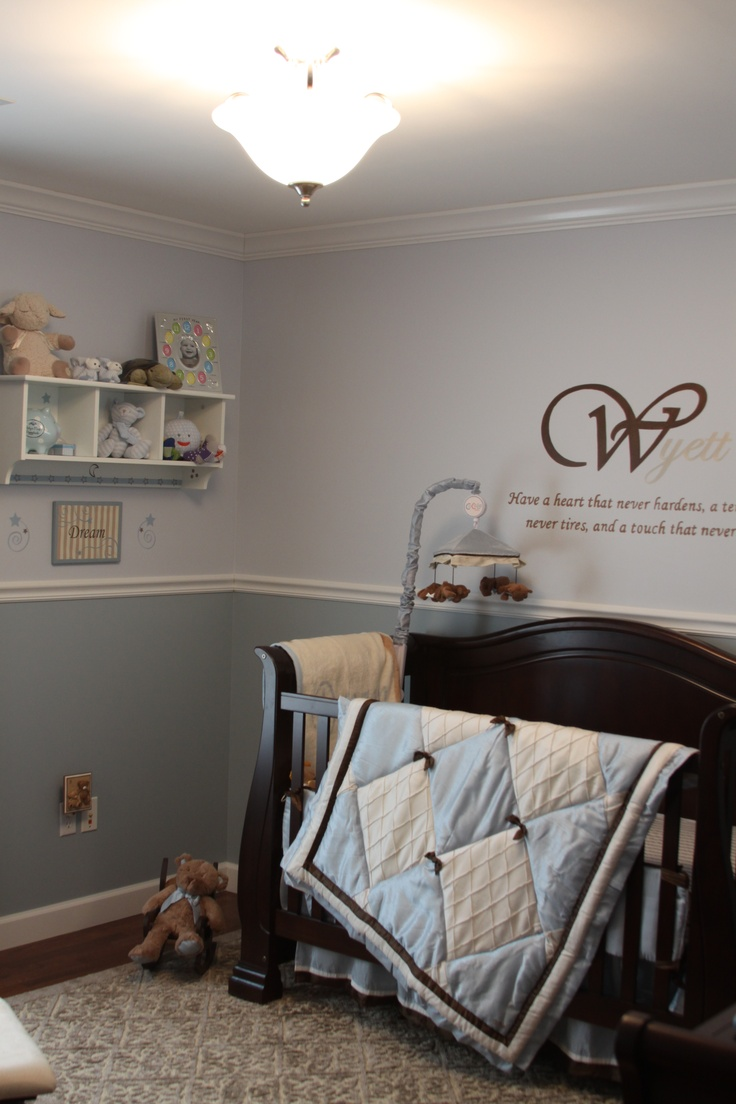 Baby  boy nursery for my son, Wyett