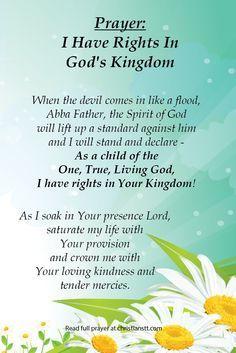 Prayer: I Have Rights in God's Kingdom