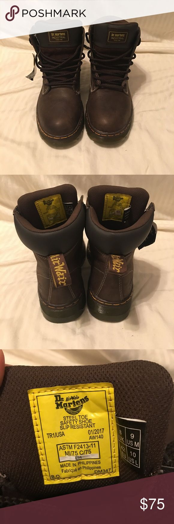Dr. Martens Steel Toe Heavy Duty Boots New with tags, no box. Great condition. Heavy duty men's work Boots. Dr. Martens Shoes Boots