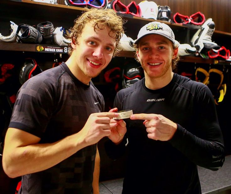 Artemi Panarin and Patrick Kane.......I stood in the exact same place they did.....on the EXACT same night this picture was taken (lol fangirl much?)