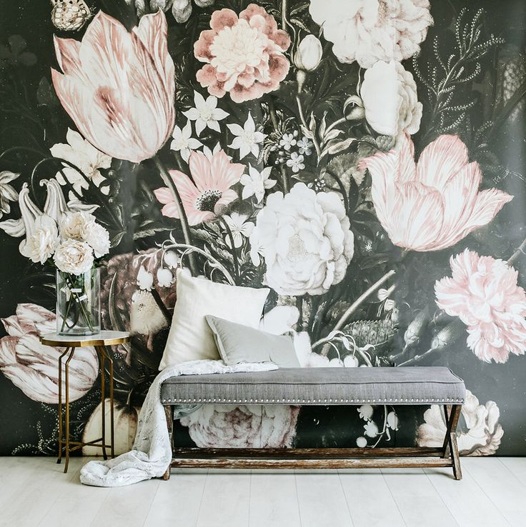 Large Floral Mural For The Powder Room. Blossoms   Large Wall Mural, Large  Flowers Part 36