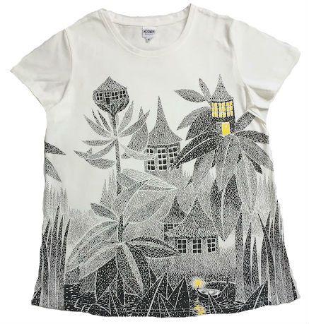 Moomin organic cotton ladies T shirt TOFFLE'S HOUSE