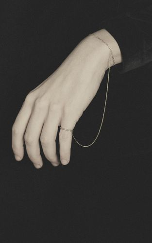 Minimalist Accessories   Bracelet Connected to Ring