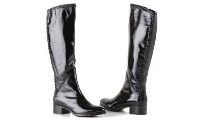 Le Pepe black, patent leather boots