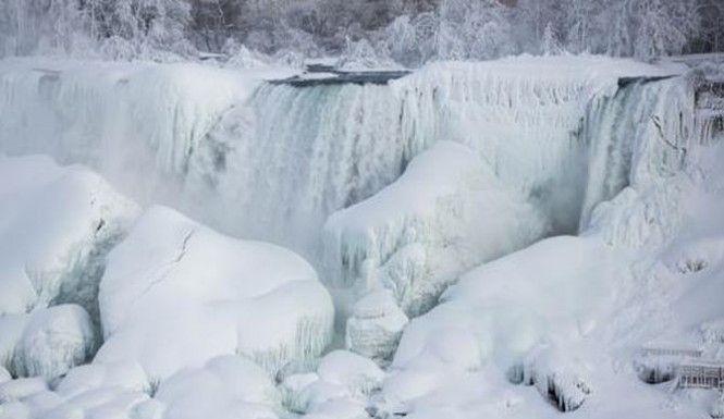 Global warming: Niagara Falls completely freezes over  http://baystateconservativenews.com