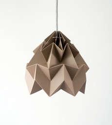 The Moth Lampshade Creates Intricate Geometric Shades of Light #lighting #lightfixture trendhunter.com