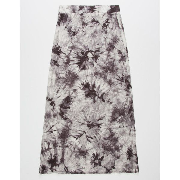 Sky And Sparrow Tie Dye Girls Maxi Skirt ($8.48) ❤ liked on Polyvore featuring skirts, elastic waistband skirt, side slit skirt, tie-dye maxi skirts, tie-dye skirt and long rayon skirt