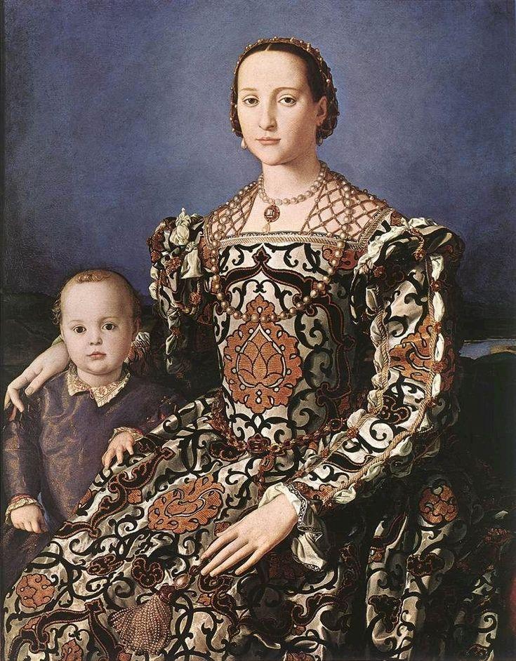 Eleonora of Toledo with her son Giovanni de' Medici, 1550  Agnolo Bronzino: Galleria degli Uffizi, Florence