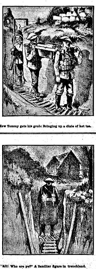 """WWI, 3 March 1917; """"The Daily Routine In The Trenches"""" - The World's News, Sydney"""