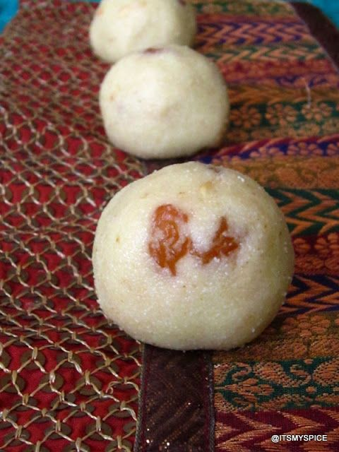 Also known as sooji laddoo, is made during festivals from semolina