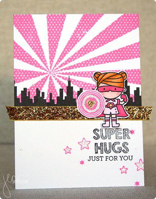 SUPER HUGS card using Mama Elephant   shurkus.com @mamaelephant #fuckcancer