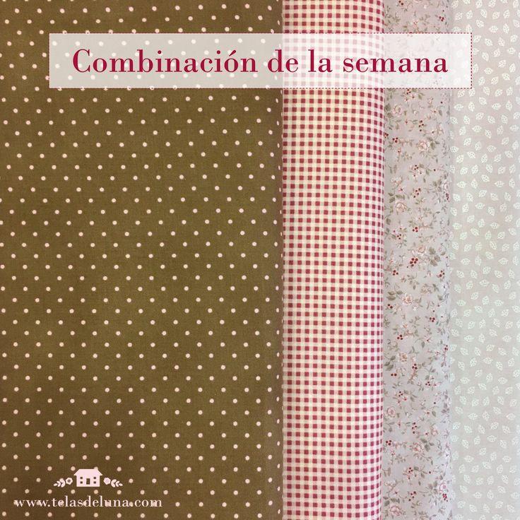 Combinar colores, combinar telas patchwork: En Telas de Luna te ayudamos a combinar cada semana tus nuevos trabajos de patchwork con telas o manualidades con telas.  Estamos en Zaragoza, pasa a nuestra tienda online !!