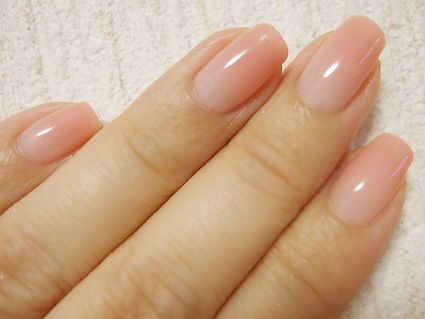 love this color #pink nail #nude nail