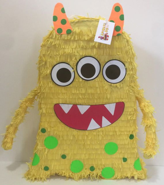 Yellow Monster Pinata First Birthday 23 Tall Available