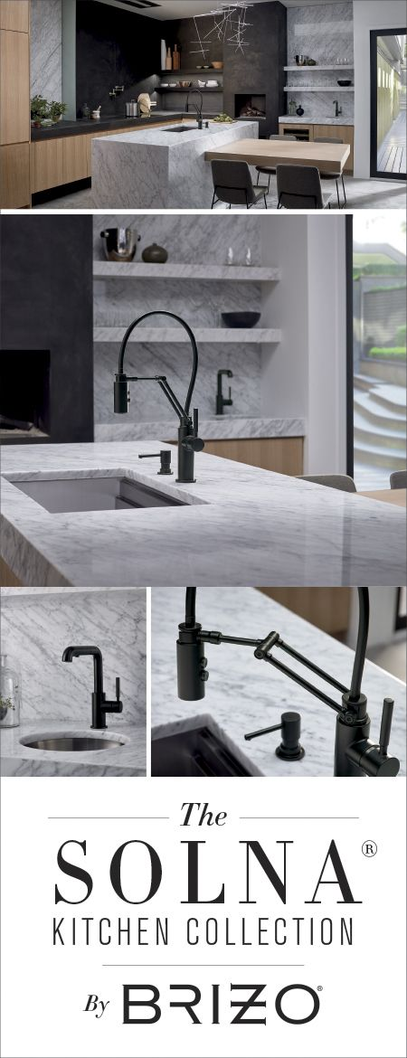 Scandinavian minimalism at its best. An articulating faucet marries function and form with a streamlined, modern aesthetic in your chef-inspired kitchen. View the entire Solna Kitchen Collection at Brizo.com.