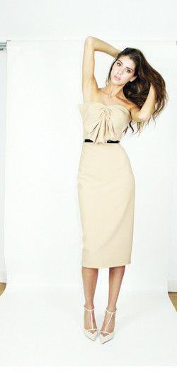 Kirsty Doyle/Riley PVC & leather trim dress #aw13