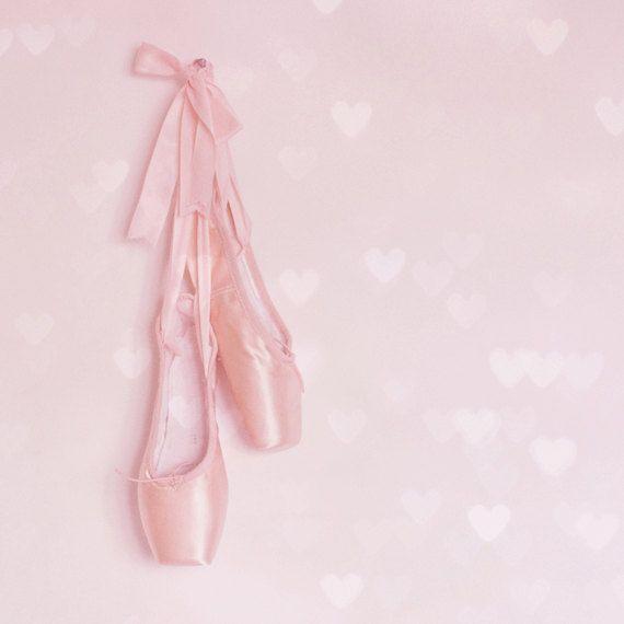 Tiny balet Pointe Buty Fine Art by PinkPinkPeony, w