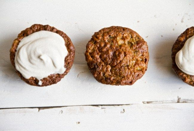 Muffins courgettes, ananas & pacanes