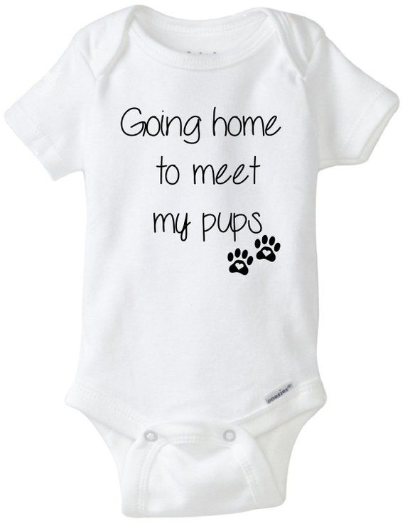243a85db81214 Going home baby onesie®,Going home to meet my pups, dog baby onesie ...