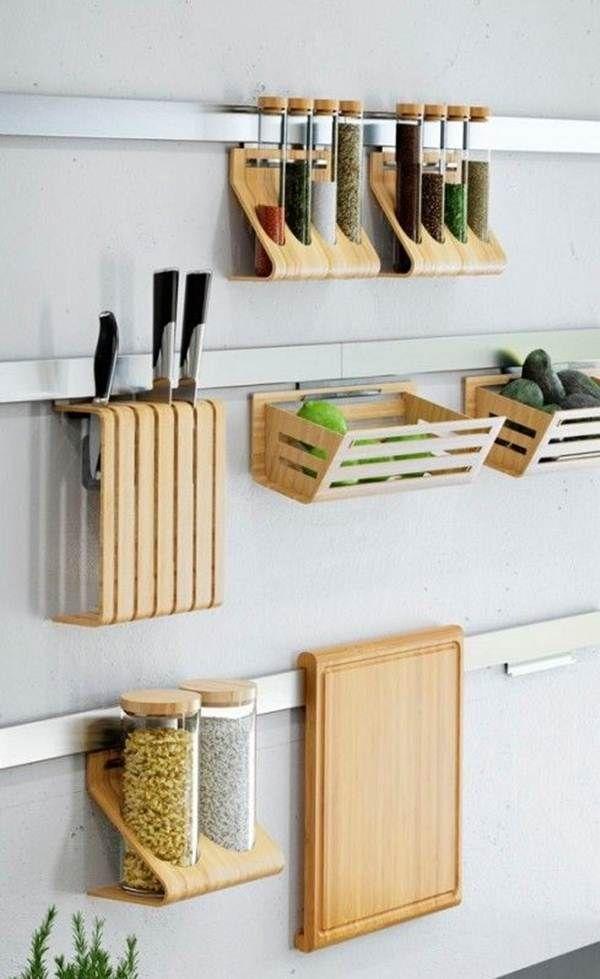 Organizador de cocina en la pared