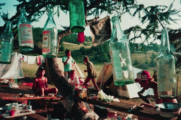 Bertien van Manen, Camping at Lake Baikal, Siberia, from the series Let's sit down before we go, 1993