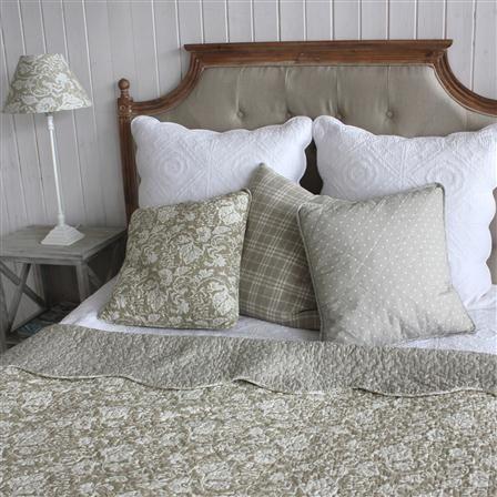 BIGGIE BEST Damask 250x260cm Quilted Bedspread, Stone