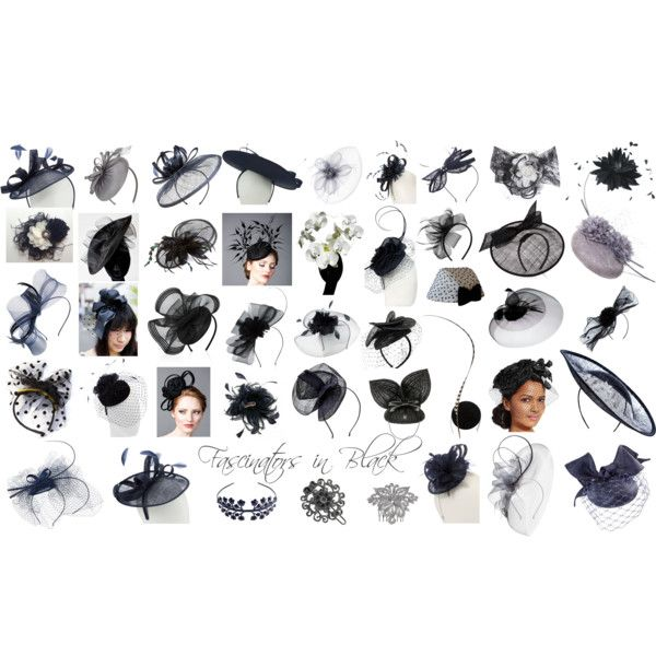 Accessorize Fascinators in Black by mschongkong on Polyvore featuring Philip Treacy, Francesco Ballestrazzi, Mich Dulce, Amy Money, Jane Tran, Carrie Jenkinson, Tuleste, Snoxell Gwyther Designer Headwear, Monsoon and Mascara
