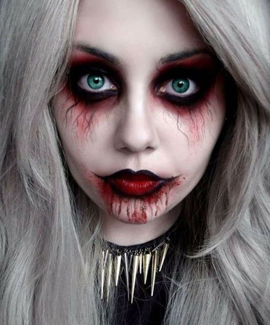 50 Pretty Halloween Makeup Ideas You'llLove | scary Zombie |  | Halloween 2016 beauty looks for women