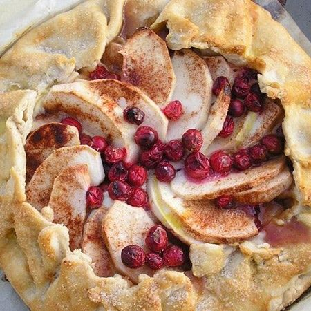 Recipe: Donna's Apple Cranberry Galette with Stonewall Kitchen Apple Caramel Butter