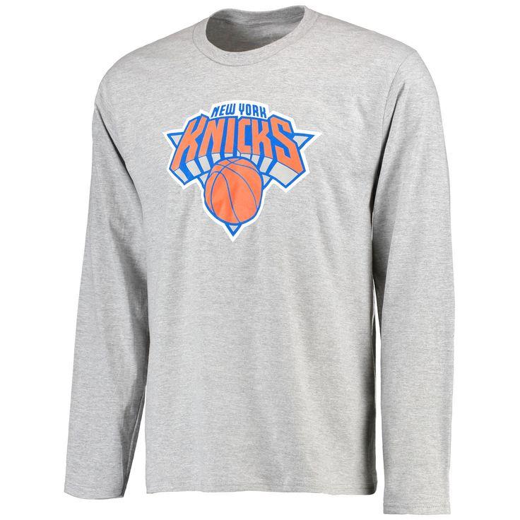 New York Knicks Team Essential Long Sleeve T-Shirt- Gray - $19.99