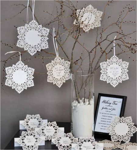 Snowflake Tags and Snowflake Place Cards - Snowflake Placecards