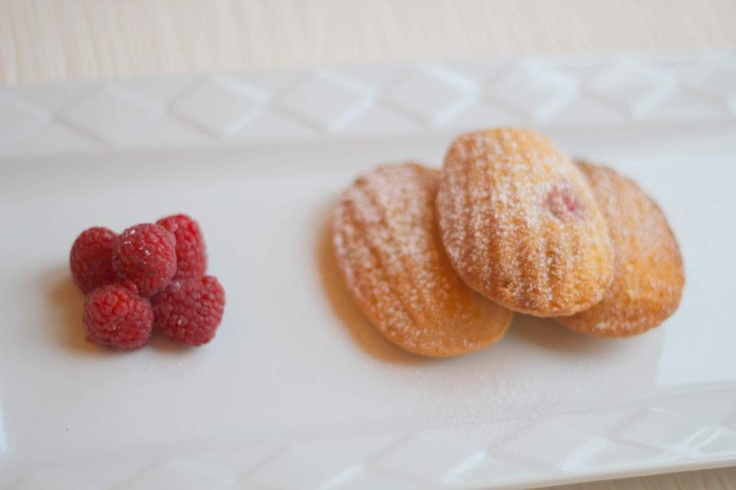 Something for the weekend Raspberry Madeleines