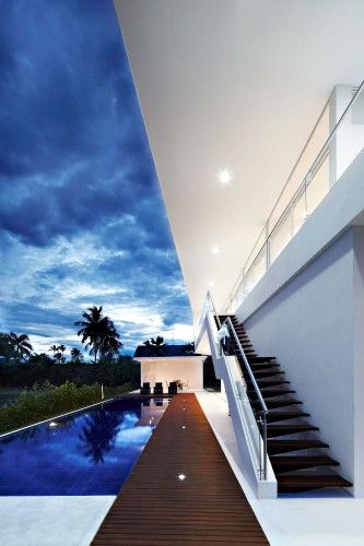 outdoor staircase cubic house design inspiration
