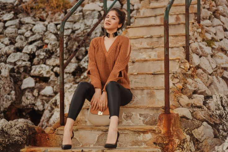 Casual chic outfit for winter #sweater #riverisland #outfit    #camel