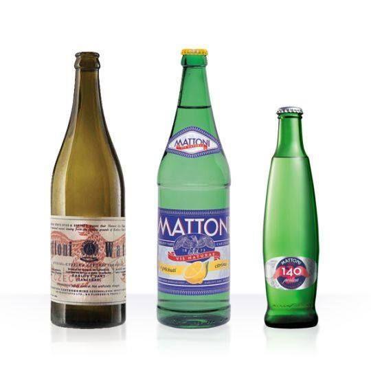 Historical bottles and current design  #bottle #design #productdesign #water #mattoniwater #mineral #history #evolution