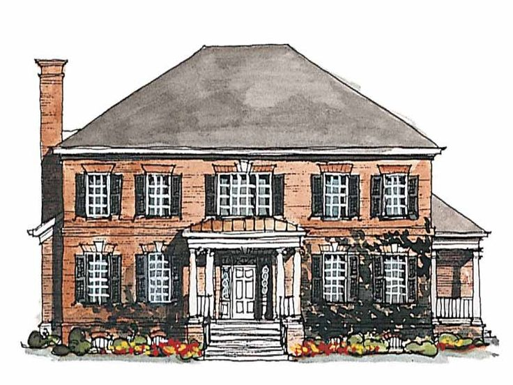Georgian house plan with 3380 square feet and 4 bedrooms s House plans for mansions