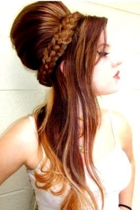 Bride's retro half up braided bouffant ginger bridal hair Toni Kami Wedding Hairstyles ♥ ❷ Wedding hairstyle ideas