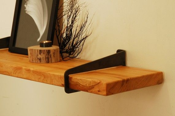 Wall Stirrup Shelf Brackets - (brackets only, shelf not included). $80.00, via Etsy.