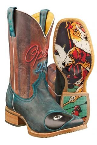 Pool Hall - Rack em Up Obivious Sole Tin Haul Pool Hall Guys Boot Cowboy Boots Urban
