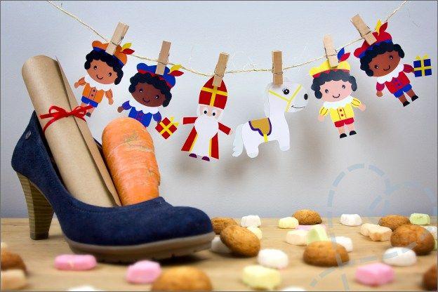 Sinterklaas versiering met Zwarte pieten DIY