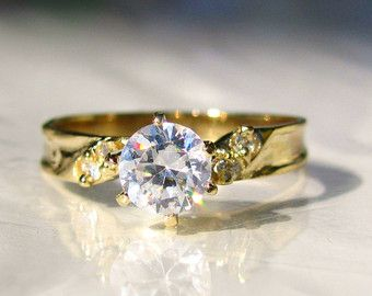 fake engagement ring etsy - Fake Wedding Rings