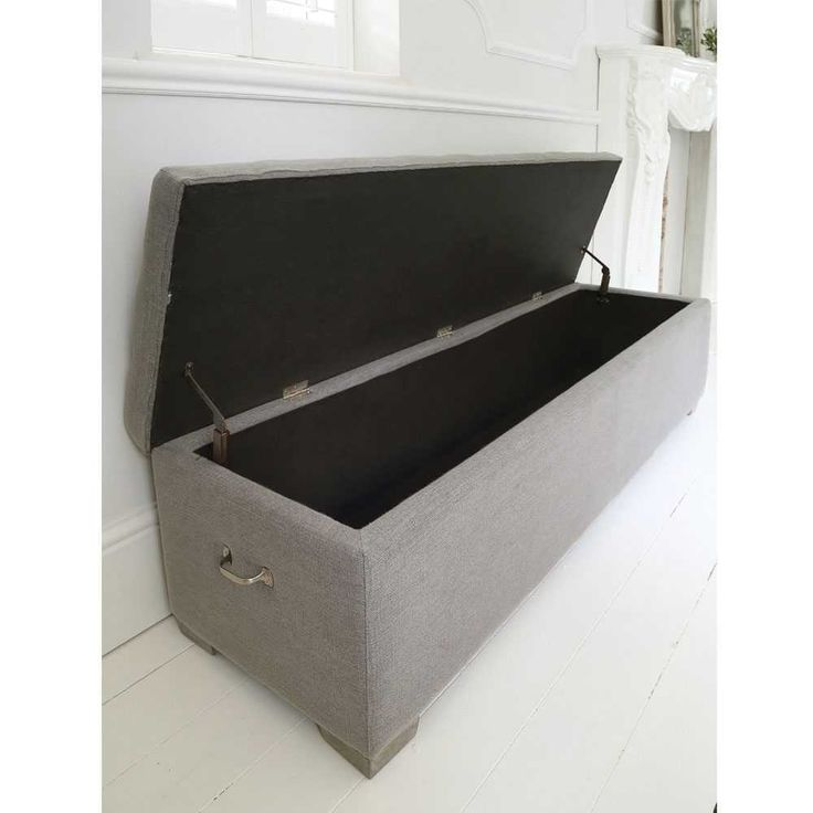 Perfect Buttons Grey Ottoman