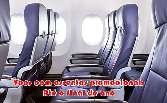Voos com assentos promocionais até o final de ano #voos #passagens #viagens #promoção #latam #gol #azul #avianca