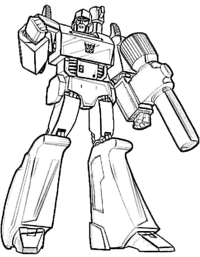 Megatron Transformers Coloring Page